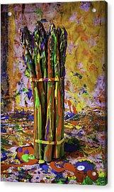 Painted Asparagus Acrylic Print