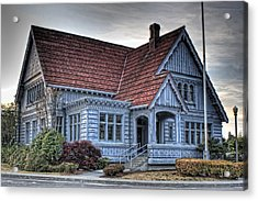 Painted Blue House Acrylic Print