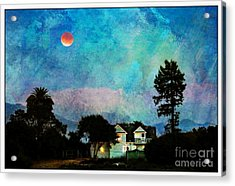 Painted By Fog And Moonlight Acrylic Print