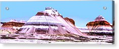 Painted Desert 0289 Acrylic Print by Sharon Broucek
