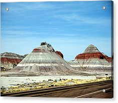 Painted Desert 2 Acrylic Print by Jeanette Oberholtzer