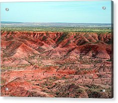 Painted Desert 3 Acrylic Print by Jeanette Oberholtzer