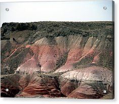 Painted Desert  Arizona Acrylic Print by Jeanette Oberholtzer
