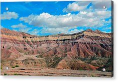 Painted Desert Acrylic Print by Charlotte Schafer