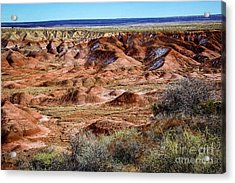 Painted Desert In Winter Acrylic Print