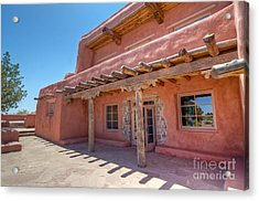 Painted Desert Inn Back Terrace Acrylic Print by Bob and Nancy Kendrick
