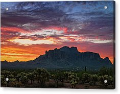 Acrylic Print featuring the photograph Painted Desert Skies Over The Supes  by Saija Lehtonen