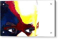 Painted Face 1 Acrylic Print by LeeAnn Alexander