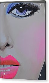 Painted Face Acrylic Print