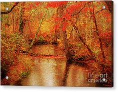 Painted Fall Acrylic Print