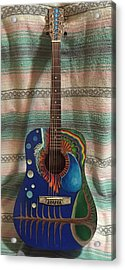 Painted Guitar Acrylic Print