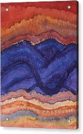 Painted High Desert Original Painting Acrylic Print by Sol Luckman