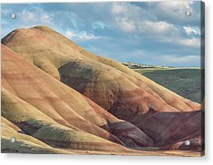 Painted Hill And Clouds Acrylic Print by Greg Nyquist