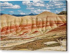 Acrylic Print featuring the photograph Painted Hills And Afternoon Sky by Greg Nyquist