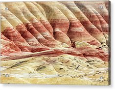Acrylic Print featuring the photograph Painted Hills Landscape by Pierre Leclerc Photography