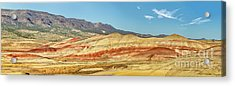 Painted Hills Pano 2 Acrylic Print by Jerry Fornarotto