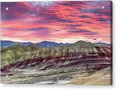 Painted Hills Sunrise Acrylic Print