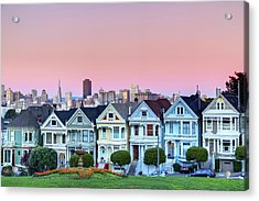 Painted Ladies At Dusk Acrylic Print by Photo by Jim Boud