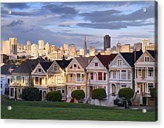 Painted Ladies In Sf California Acrylic Print by Pierre Leclerc Photography