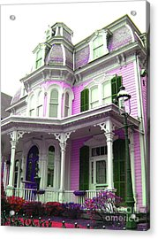 Acrylic Print featuring the photograph Painted Lady -  Victorian Age  by Susan Carella