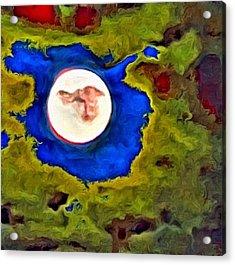 Painted Moon Acrylic Print