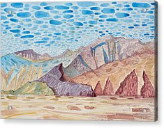 Painted Mountain II Acrylic Print by Vaughan Davies