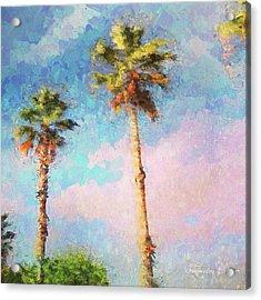 Painted Palms Acrylic Print