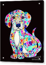 Painted Puppy 2 Acrylic Print by Nick Gustafson