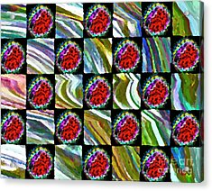 Painted Quilt Acrylic Print by Gwyn Newcombe