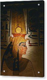 Painted Relief, Nefertari Tomb, Valley Acrylic Print by Kenneth Garrett
