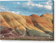Painted Ridge And Sky Acrylic Print by Greg Nyquist