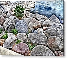 Painted Rocks Acrylic Print
