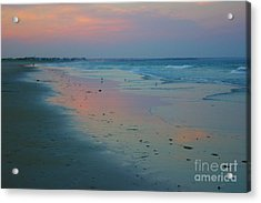 Painted Sand Acrylic Print by Alice Mainville