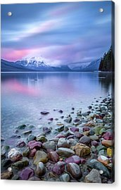 Painted Skies Over Stanton Peak // Lake Mcdonald, Glacier National Park Acrylic Print