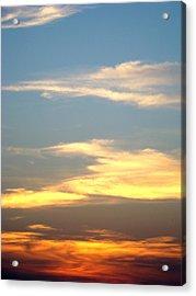 Painted Sky Acrylic Print by Ana Villaronga