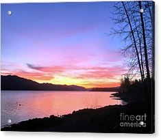Painted Sky Acrylic Print by Victor K