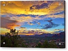 Painted Sky's Over Sedona Acrylic Print