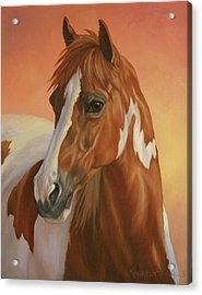 Painted Sunset Acrylic Print by Kathleen Hill