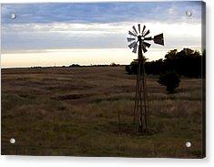 Painted Windmill Acrylic Print