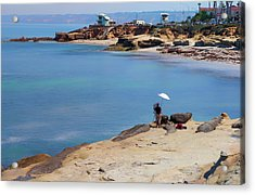 Painter By The Sea Acrylic Print by Joseph S Giacalone
