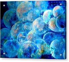Painterly Bubbles Acrylic Print