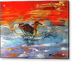 Painterly Escape II Acrylic Print by Lisa Kaiser