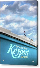 Acrylic Print featuring the photograph Painterly Keyport Sailboat by Gary Slawsky