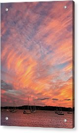 Painterly Sunset Acrylic Print