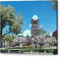 Painterly Taunton Green Spring Acrylic Print