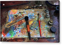 Acrylic Print featuring the photograph Painter's Palette by Jessica Jenney