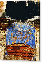 Painter's Wall By Darian Day Acrylic Print by Mexicolors Art Photography