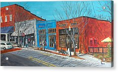 Paintin The Town Acrylic Print by Pete Maier