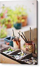 Painting Brushes Acrylic Print by Ilker Goksen