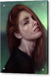 Painting Of A Woman I Will Never Know Acrylic Print by James W Johnson